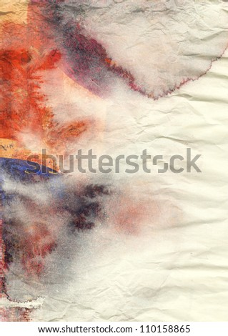 Abstract watercolor background on grunge paper texture - stock photo