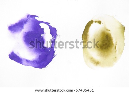 abstract watercolor background shapes design - stock photo