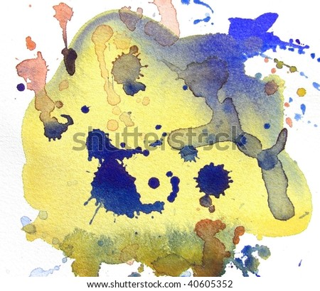 abstract watercolor background splash - stock photo