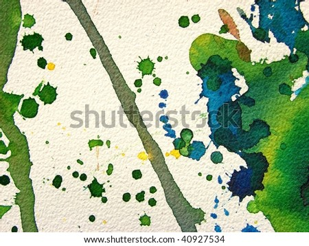 abstract watercolor background splash on textured paper - stock photo