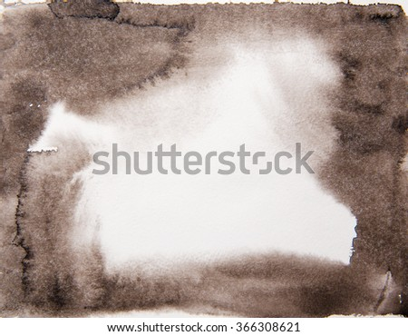 Abstract watercolor background, stain watercolors colors wet on wet paper. - stock photo