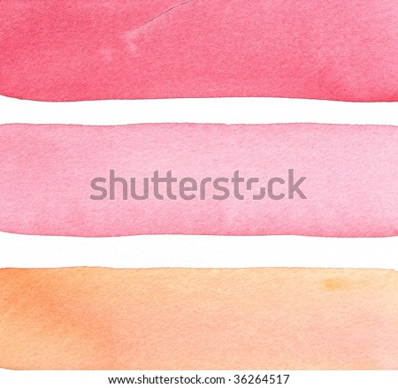 abstract watercolor background stripes - stock photo