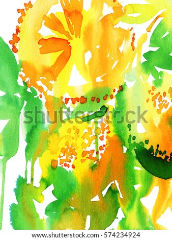 Abstract watercolor background create greeting card stock abstract watercolor background to create a greeting card with lemons m4hsunfo