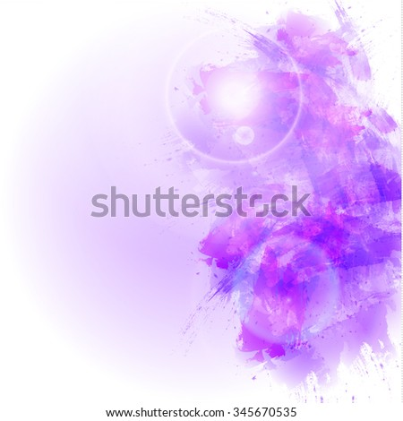 Abstract watercolor background. VECTOR. Magenta - stock photo