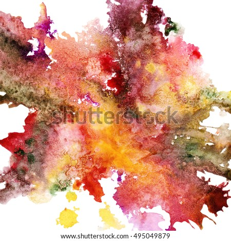 Abstract watercolor background, warm colors, hand painted, bright and optimistic