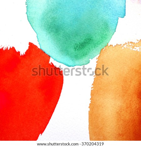 abstract watercolor background wash - stock photo