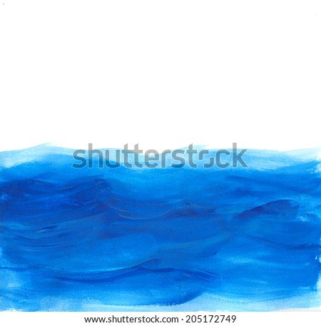"Abstract watercolor background ""Waves"" - stock photo"