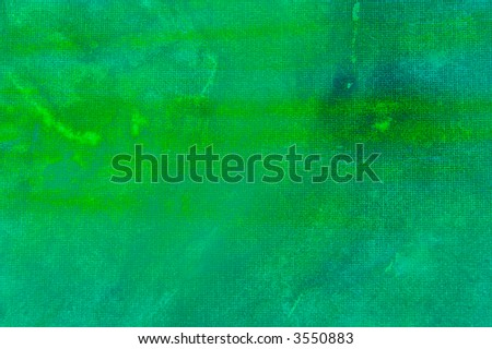 Abstract watercolor background with blue and green layers on visible paper texture - stock photo