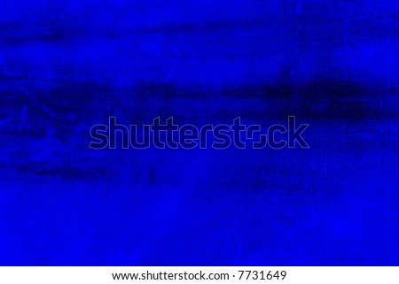 Abstract watercolor background with blue layers on visible paper texture - stock photo