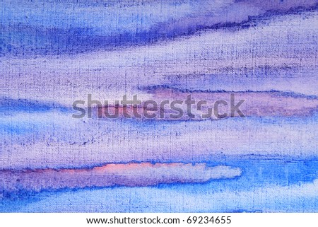 Abstract watercolor background with colorful different layers on paper texture - stock photo