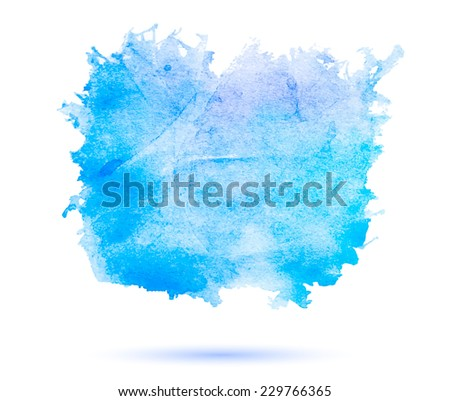Abstract watercolor banner. Blue, cyan, and purple background. Design template with place for your text. Can be used for banners for sale, web pages, printing, invitations, cards, etc. - stock photo