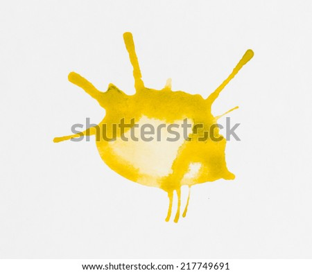 Abstract  watercolor blob - Stock Image macro. - stock photo