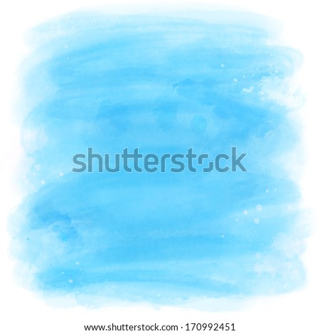 Abstract Watercolor blue background - stock photo