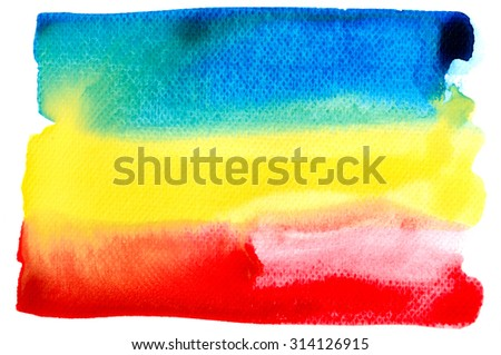 Abstract watercolor brush background on white paper. - stock photo