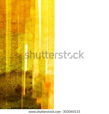Abstract watercolor brush grunge background - stock photo