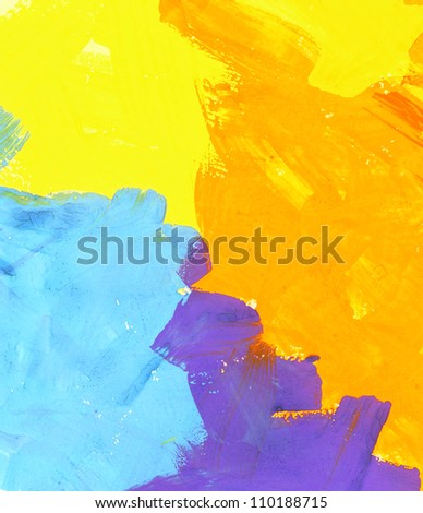 Abstract watercolor brush strokes background