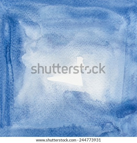 Abstract watercolor brushed background. - stock photo