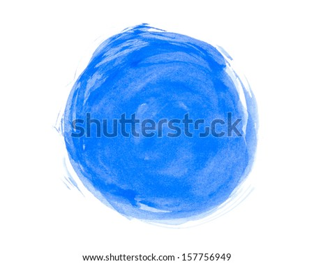 Abstract watercolor circle - stock photo