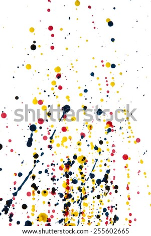 abstract watercolor color painting watercolour on background - stock photo