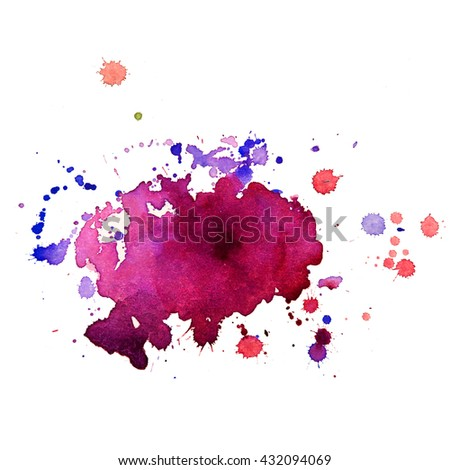 Abstract watercolor colorful gradient background. Grunge texture for cards and flyers design. A model for the creation of digital brushes