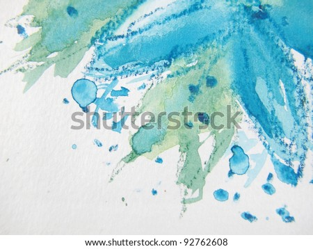 Abstract Watercolor Floral 3 - stock photo