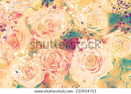 abstract watercolor floral background. hand made drawing. suitable for various designs and scrapbooking