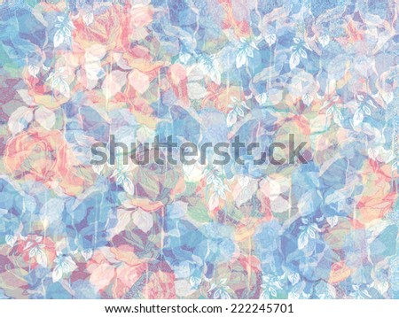 abstract watercolor flower background. hand made drawing. suitable for various designs and scrapbooking