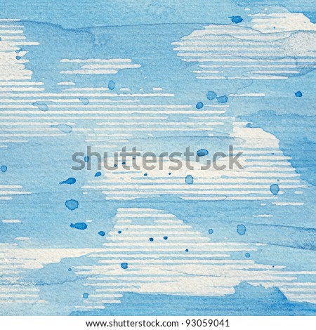 Abstract watercolor hand painted artistic background. - stock photo