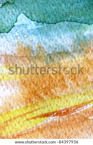abstract watercolor; hand painted background. - stock photo