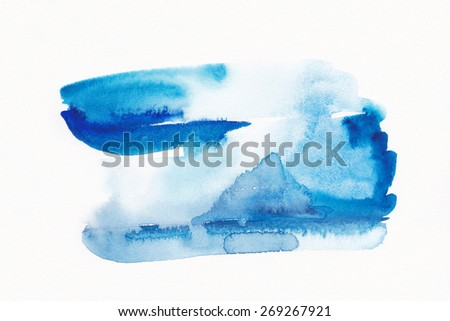 """Abstract watercolor hand painted background.  .Album """"New Abstract Water Colour Backgrounds"""".Ombre Watercolor. Watercolor Wash. Watercolor Ombre Background. Wet Watercolor Wash. Blue Watercolor Wash. - stock photo"""