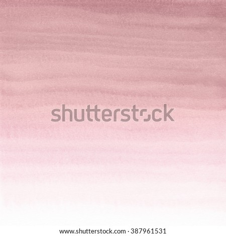 Abstract Watercolor Hand Painted Background. Rose Quartz Tint Watercolour Texture Gradient. Pastel Colored Palette.