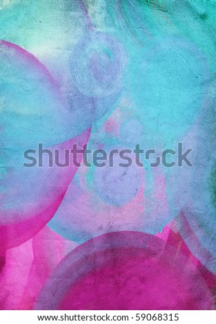 Abstract watercolor hand painted by me and all elements used are my work.  Nice background for your projects. - stock photo