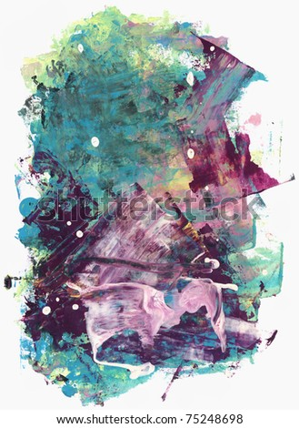 Abstract watercolor hand painted by me. Nice background for your projects. More images like this in my portfolio - stock photo