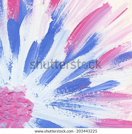 Abstract watercolor hand painted flower - stock photo