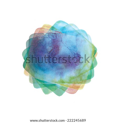 abstract watercolor image. hand made drawing. suitable for designs and scrapbooking.