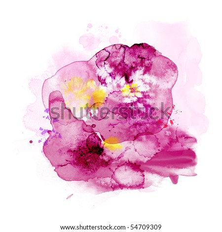 Abstract watercolor paint 14 - stock photo