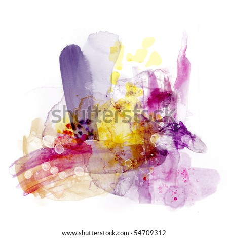 Abstract watercolor paint - stock photo