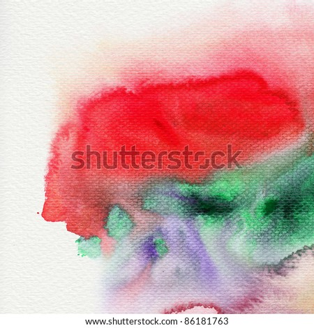 Abstract watercolor paint wet on paper - stock photo
