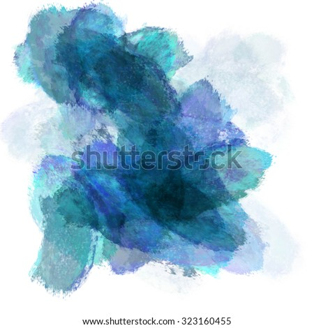 Abstract watercolor painting background. - stock photo