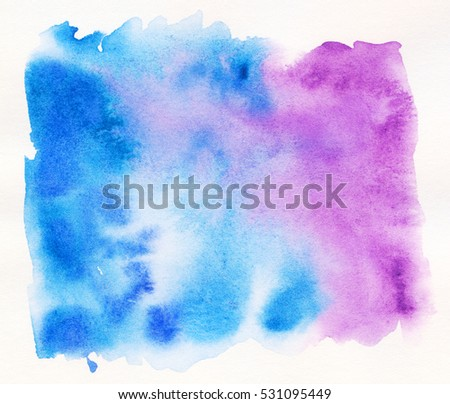 Abstract watercolor painting scanned in high resolution. Design element.