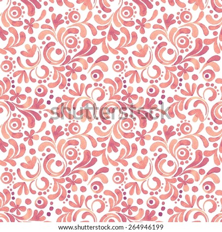 Abstract watercolor pattern. Seamless background with hand drawn elements 21.