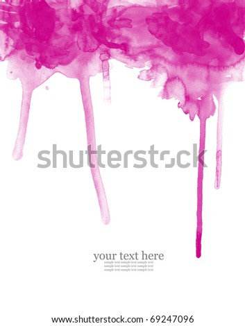 Abstract watercolor pink background - stock photo