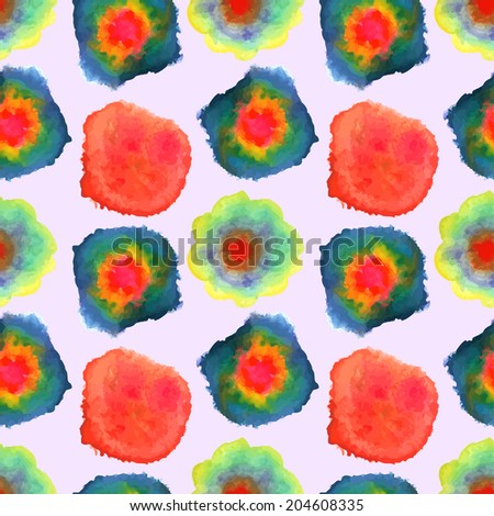 Abstract watercolor seamless pattern. Raster copy - stock photo