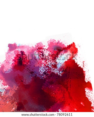 Abstract watercolor splash - stock photo