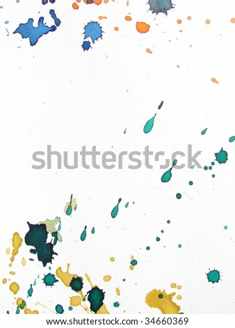 abstract watercolor splash background - stock photo
