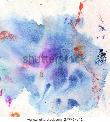 abstract watercolor splash on background - stock photo