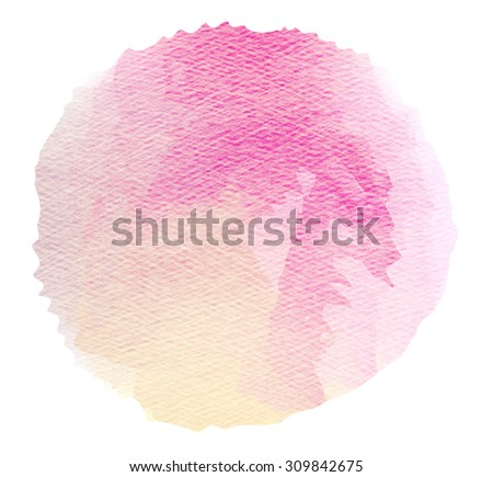 Abstract watercolor splash. Watercolor drop. Digital painting. - stock photo