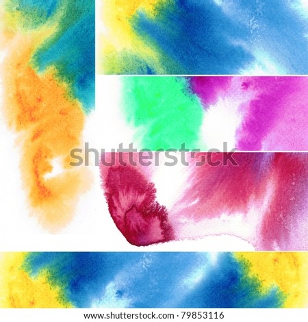 Abstract watercolors : tab for design - stock photo