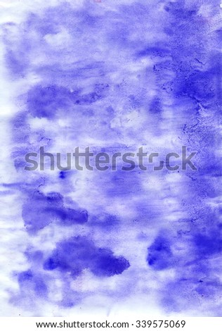 Abstract watercolour blue  colorful  dirty backdrop  with for your projects  - stock photo