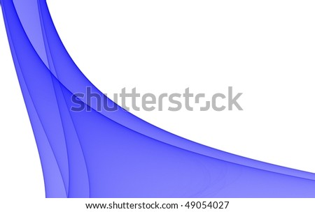 Abstract wave background with space for text in vibrant transparent blue. Beautiful fractal for design and illustrations.